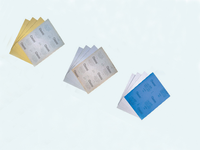 dry sandpaper